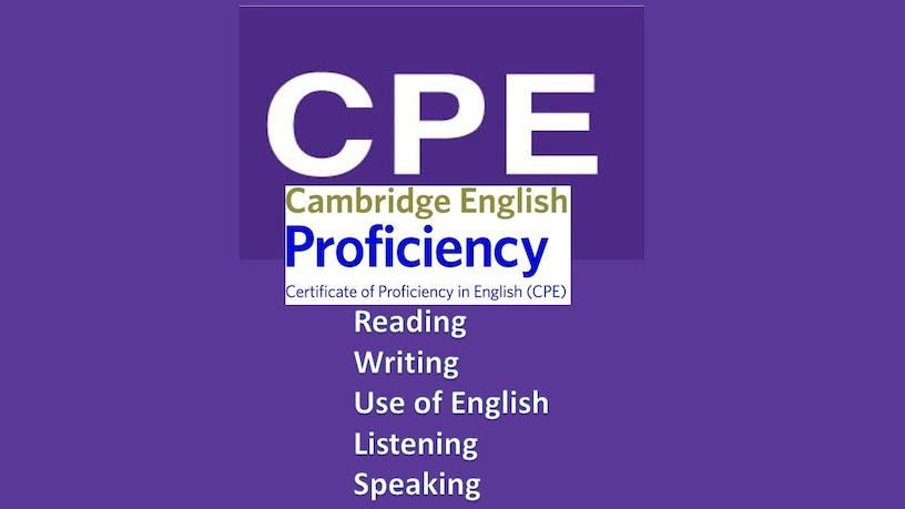 certificate of proficiency in englsh cpe